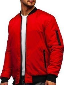 Czerwona kurtka Denley z bawełny w stylu casual