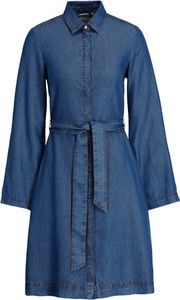 Niebieska sukienka Pennyblack mini z kołnierzykiem