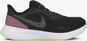 Czarne buty sportowe Nike z płaską podeszwą sznurowane revolution