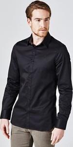 Czarna koszula Guess z bawełny w stylu casual z klasycznym kołnierzykiem