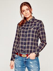 Koszula Wrangler w stylu casual z kołnierzykiem z długim rękawem