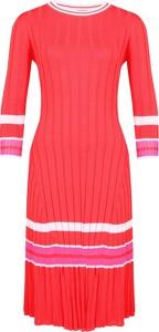 Sukienka Pinko z długim rękawem z okrągłym dekoltem midi