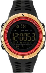 ZEGAREK MĘSKI SKMEI 1250 - (zs013c) BLUETOOTH - Czarny || Złoty || Czerwony