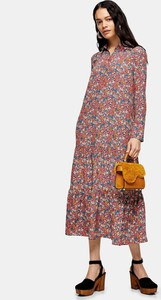 Sukienka Topshop z długim rękawem