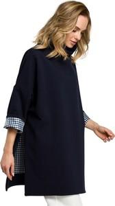 Bluzka MOE w stylu casual z okrągłym dekoltem z długim rękawem