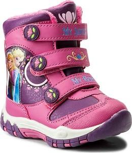 Różowe buty dziecięce zimowe Disney Frozen