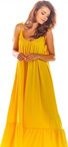 Sukienka Awama z dekoltem w kształcie litery v maxi
