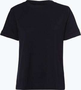 Granatowy t-shirt Marie Lund w młodzieżowym stylu z krótkim rękawem
