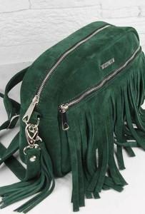 Zielona torebka Fabiola z zamszu