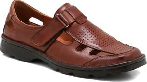 Brązowe buty letnie męskie Ryłko