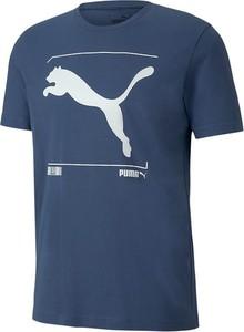 T-shirt Puma z nadrukiem z krótkim rękawem