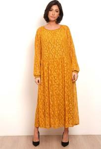 Sukienka Plus Size Fashion oversize maxi z okrągłym dekoltem