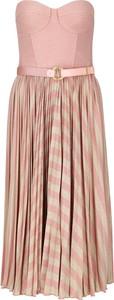 Różowa sukienka Elisabetta Franchi bez rękawów