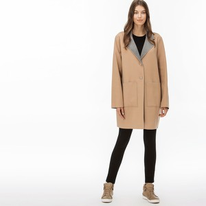 Brązowa kurtka Lacoste w stylu casual
