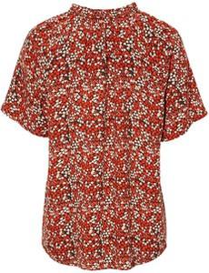 Czerwona bluzka Freequent w stylu boho