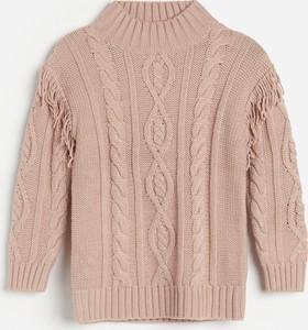 Różowy sweter Reserved dla dziewczynek