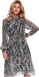 Sukienka Top Secret w stylu casual z długim rękawem z kołnierzykiem