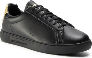 eobuwie.pl Sneakersy EMPORIO ARMANI - X4X316 XM500 N024 Black/Old Gold Print