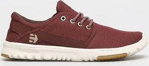Czerwone buty sportowe ETNIES ze skóry