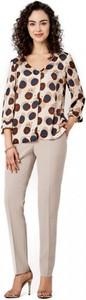 Bluzka POTIS & VERSO z tkaniny z długim rękawem