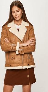 Brązowa kurtka Vero Moda krótka w stylu casual