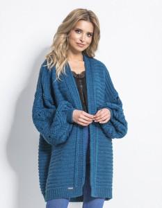 Niebieski sweter Fobya w stylu casual