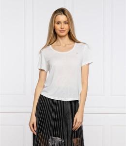 T-shirt Tommy Jeans w stylu casual z okrągłym dekoltem