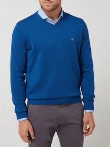 Niebieski sweter Fynch Hatton z bawełny w stylu casual