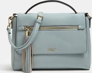 Niebieska torebka Guess z bawełny