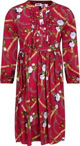 Czerwona sukienka Liu-Jo z długim rękawem w stylu casual