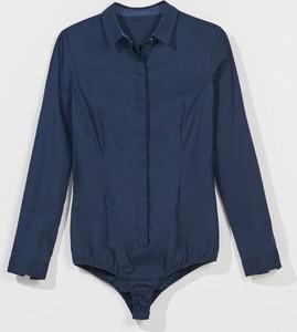 Niebieska koszula Mohito z długim rękawem z bawełny