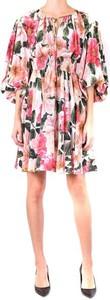 Sukienka Dolce & Gabbana z jedwabiu z dekoltem w łódkę mini
