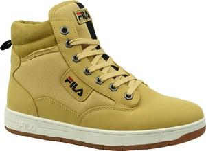Żółte buty sportowe Fila z nubuku