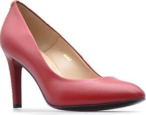 Czerwone szpilki Sala na szpilce w stylu klasycznym na wysokim obcasie