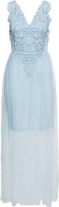 Niebieska sukienka bonprix BODYFLIRT boutique bez rękawów