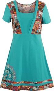 Sukienka Coline z dekoltem w kształcie litery v z krótkim rękawem