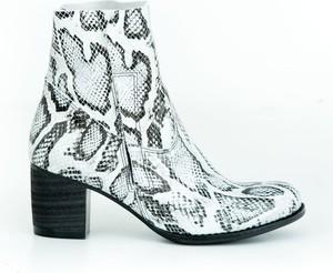Botki Zapato ze skóry na zamek