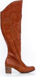 Kozaki Zapato na obcasie w stylu casual
