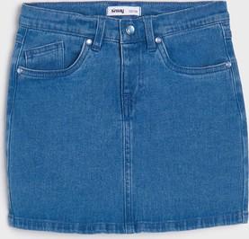 Niebieska spódniczka dziewczęca Sinsay z jeansu