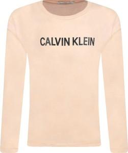 Bluzka dziecięca Calvin Klein z jeansu z długim rękawem