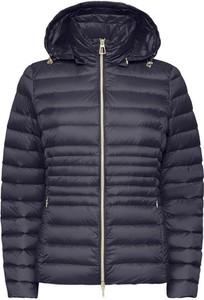 Granatowa kurtka Geox krótka w stylu casual
