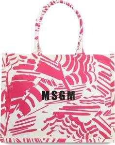 Różowa torebka MSGM na ramię