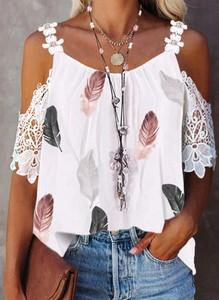 Bluzka Sandbella na ramiączkach z okrągłym dekoltem