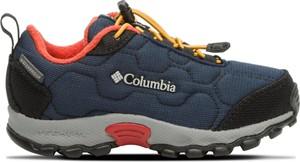 Niebieskie buty sportowe dziecięce Columbia sznurowane
