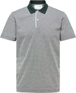 Koszulka polo Selected Homme z krótkim rękawem z bawełny w stylu casual