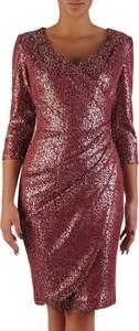 Czerwona sukienka POLSKA kopertowa