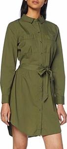 Sukienka amazon.de mini z kołnierzykiem z długim rękawem