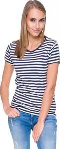 T-shirt Hilfiger Denim w młodzieżowym stylu z okrągłym dekoltem