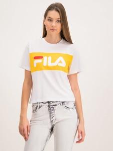 T-shirt Fila z krótkim rękawem z okrągłym dekoltem w młodzieżowym stylu