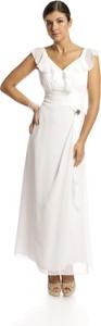 Sukienka Fokus z krótkim rękawem z dekoltem w kształcie litery v trapezowa